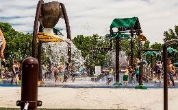 Splashpad at Burrus Old Mill Park