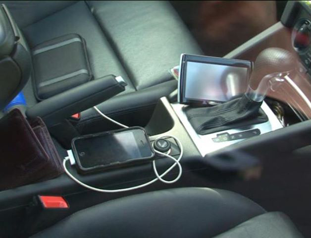 Electronics on car seat