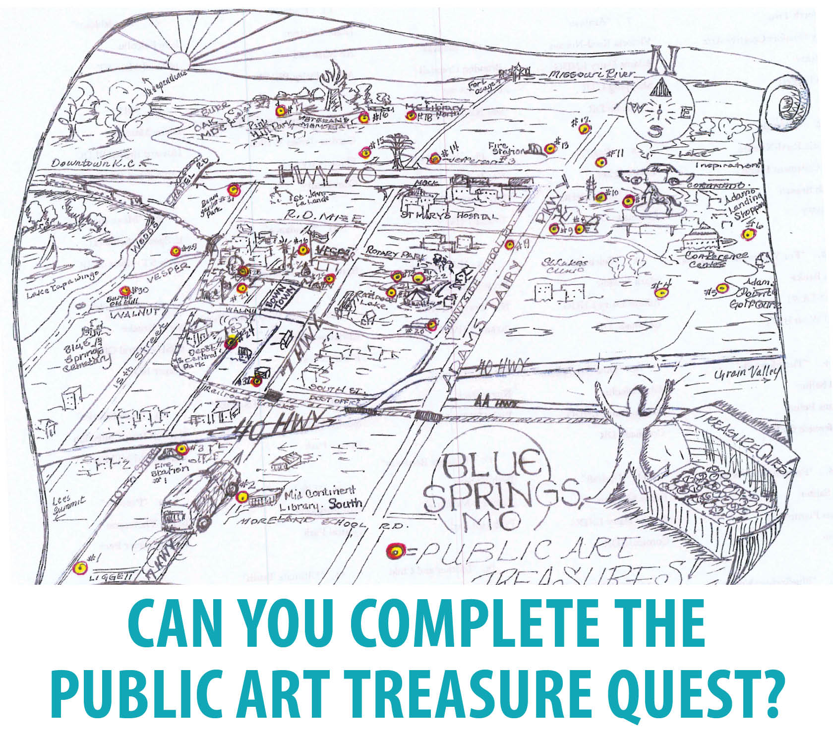 Treasure Quest Map