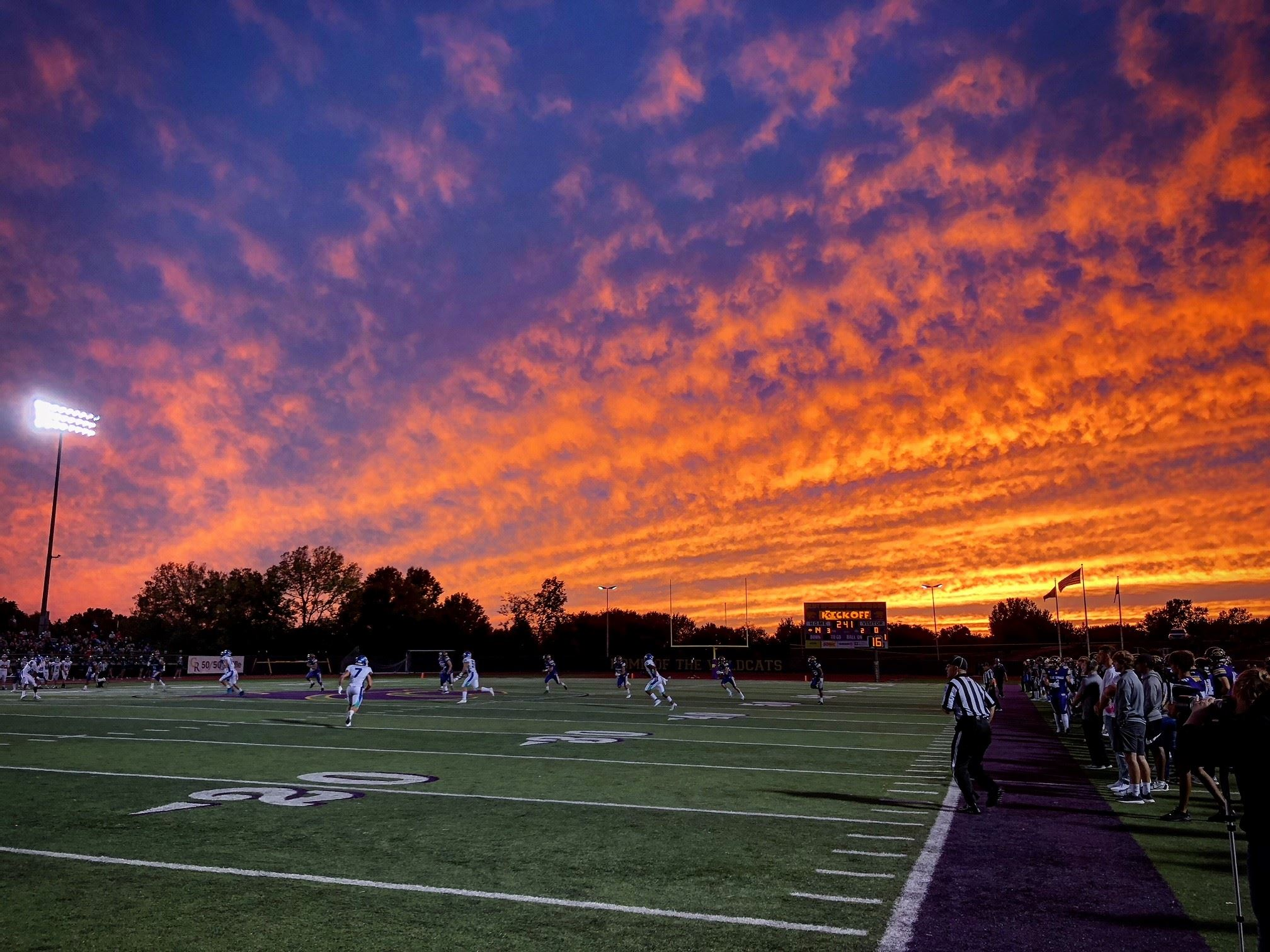 My Blue Springs Catagory Winner - Football sunset