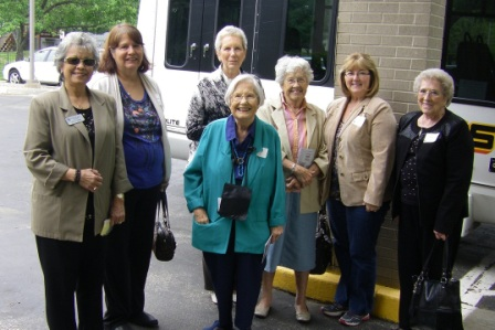 group of ladies ready for vesper hall day trip